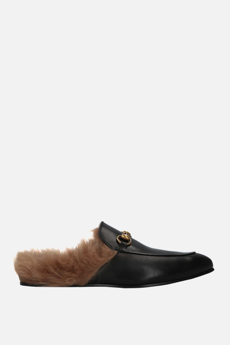 GUCCI: Princetown slippers in smooth leather Color Black_1