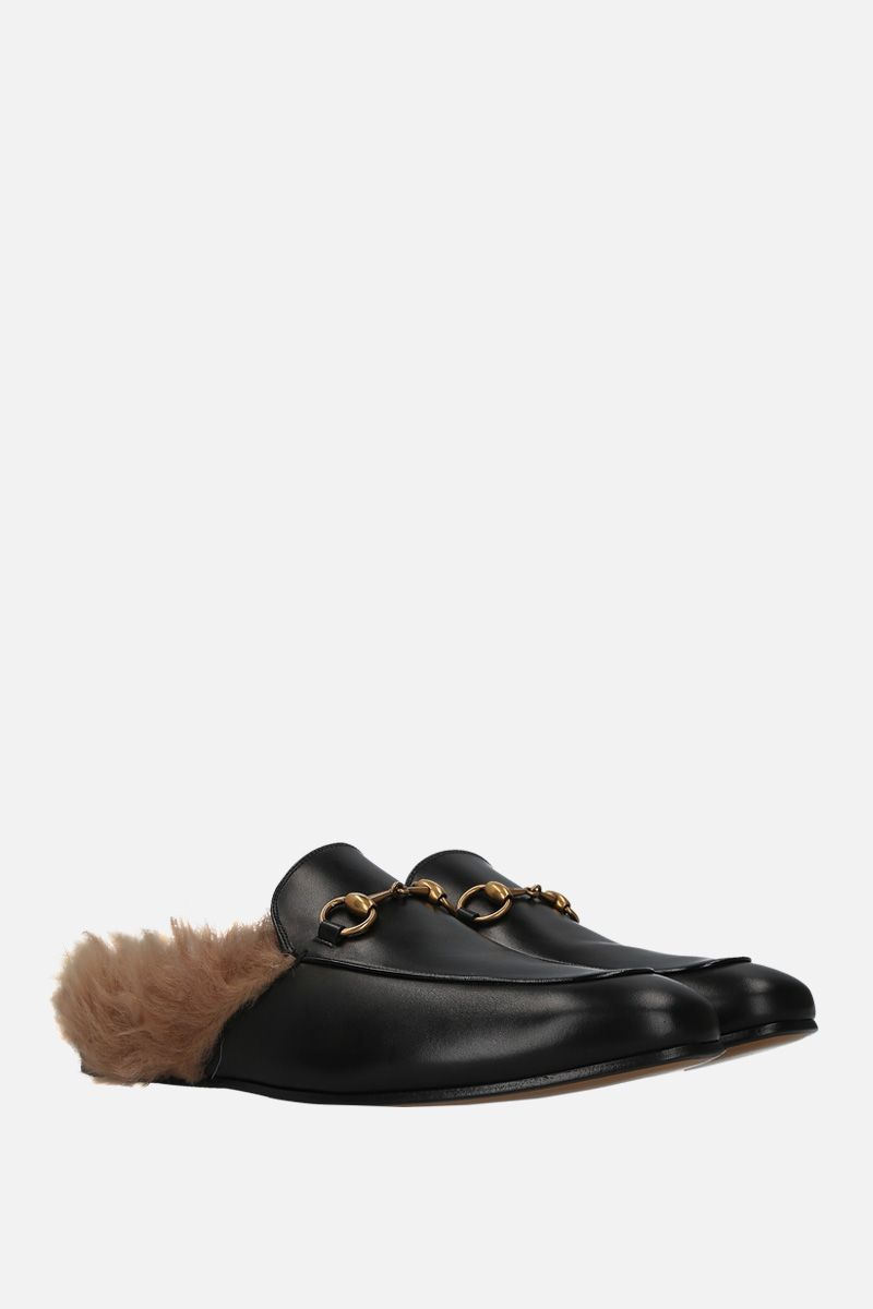 GUCCI: Princetown slippers in smooth leather Color Black_2