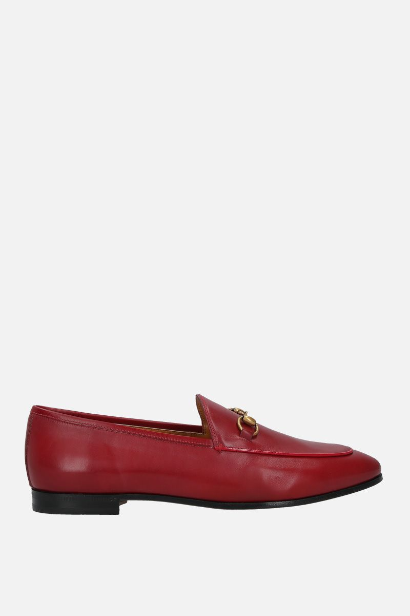 GUCCI: Jordaan loafers in smooth leather Color Red_1