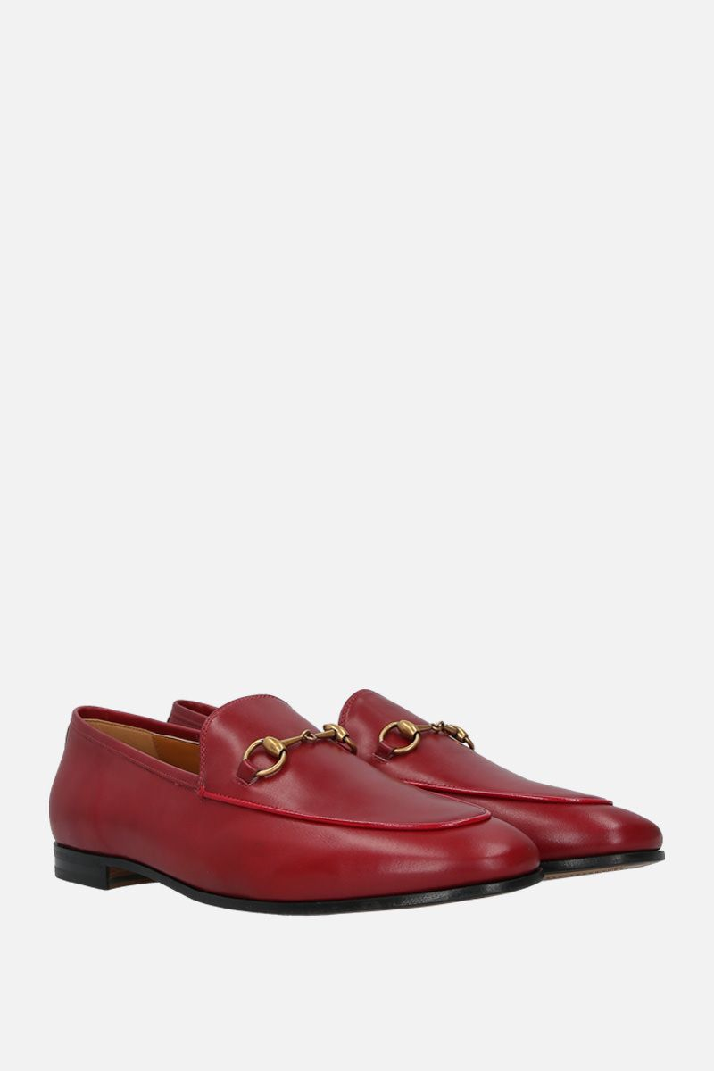 GUCCI: Jordaan loafers in smooth leather Color Red_2