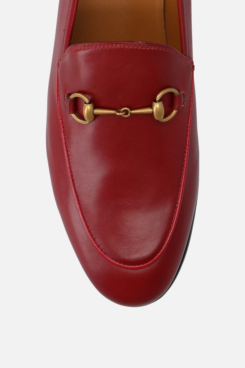 GUCCI: Jordaan loafers in smooth leather Color Red_4