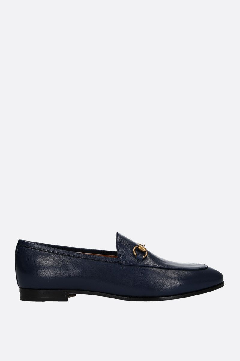 GUCCI: Jordaan loafers in smooth leather Color Blue_1