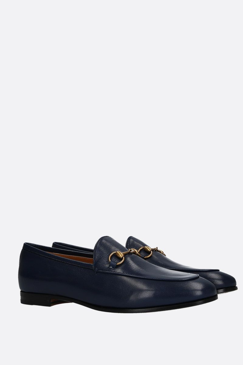 GUCCI: Jordaan loafers in smooth leather Color Blue_2