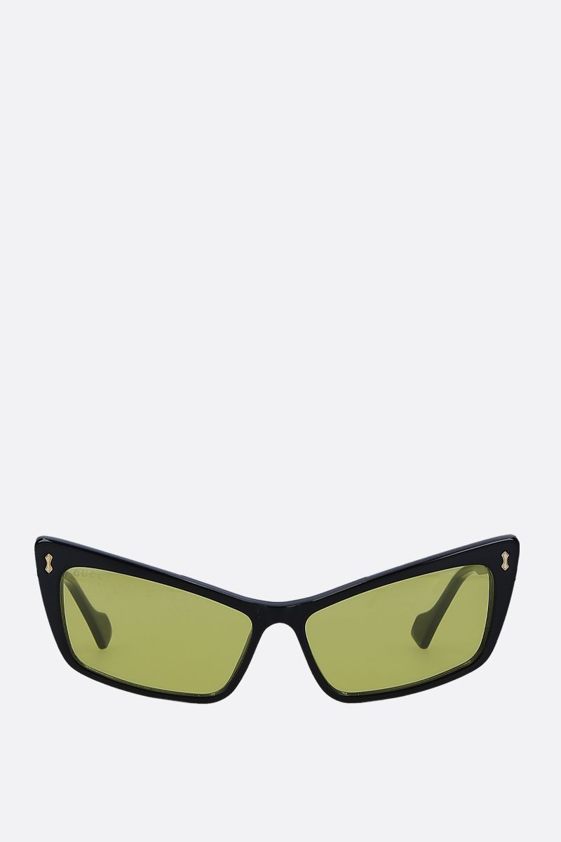 GUCCI: rectangular acetate sunglasses Color Black_1