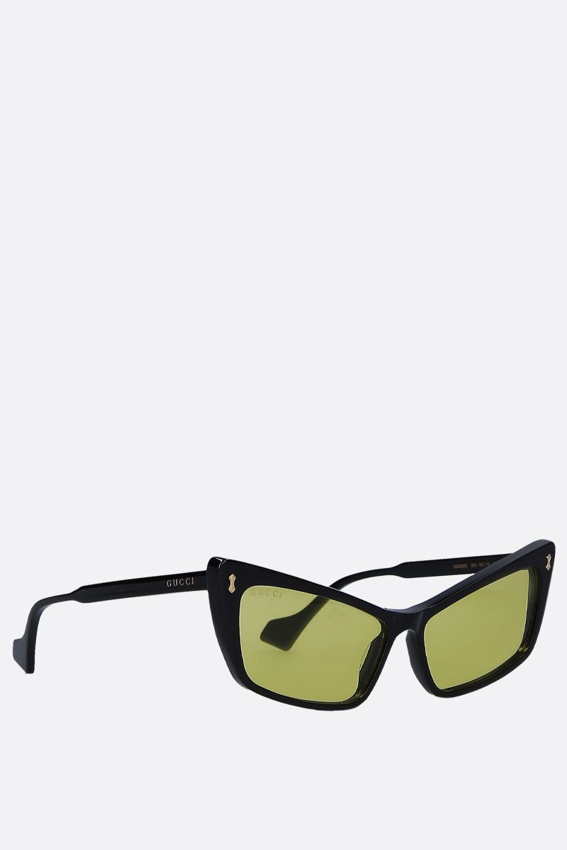 GUCCI: rectangular acetate sunglasses Color Black_2