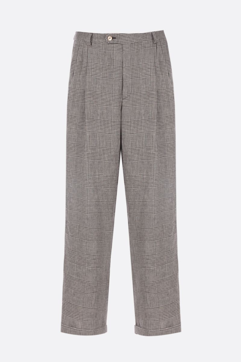 GUCCI: prince of wales linen pants Color Neutral_1