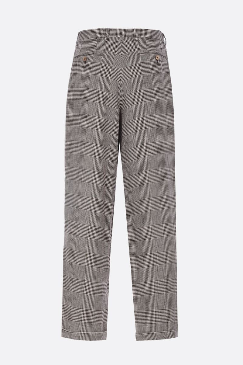 GUCCI: prince of wales linen pants Color Neutral_2