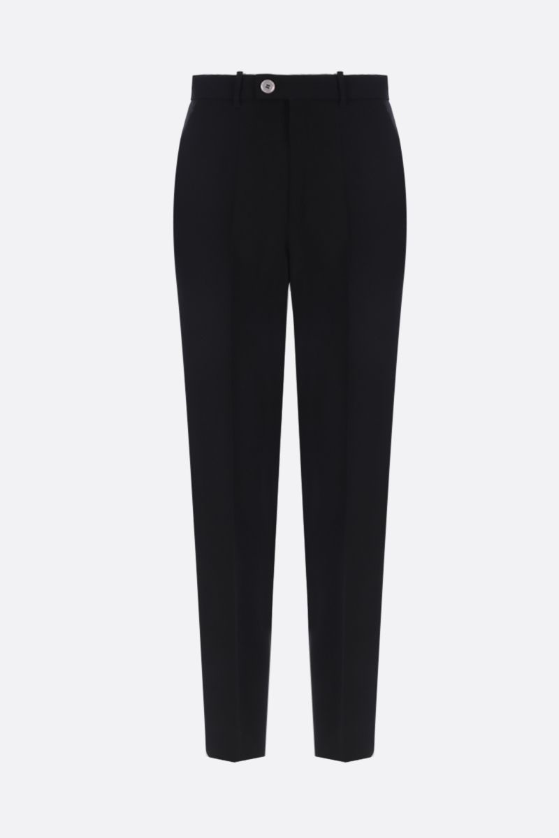 GUCCI: wool blend high-waist pants Color Black_1
