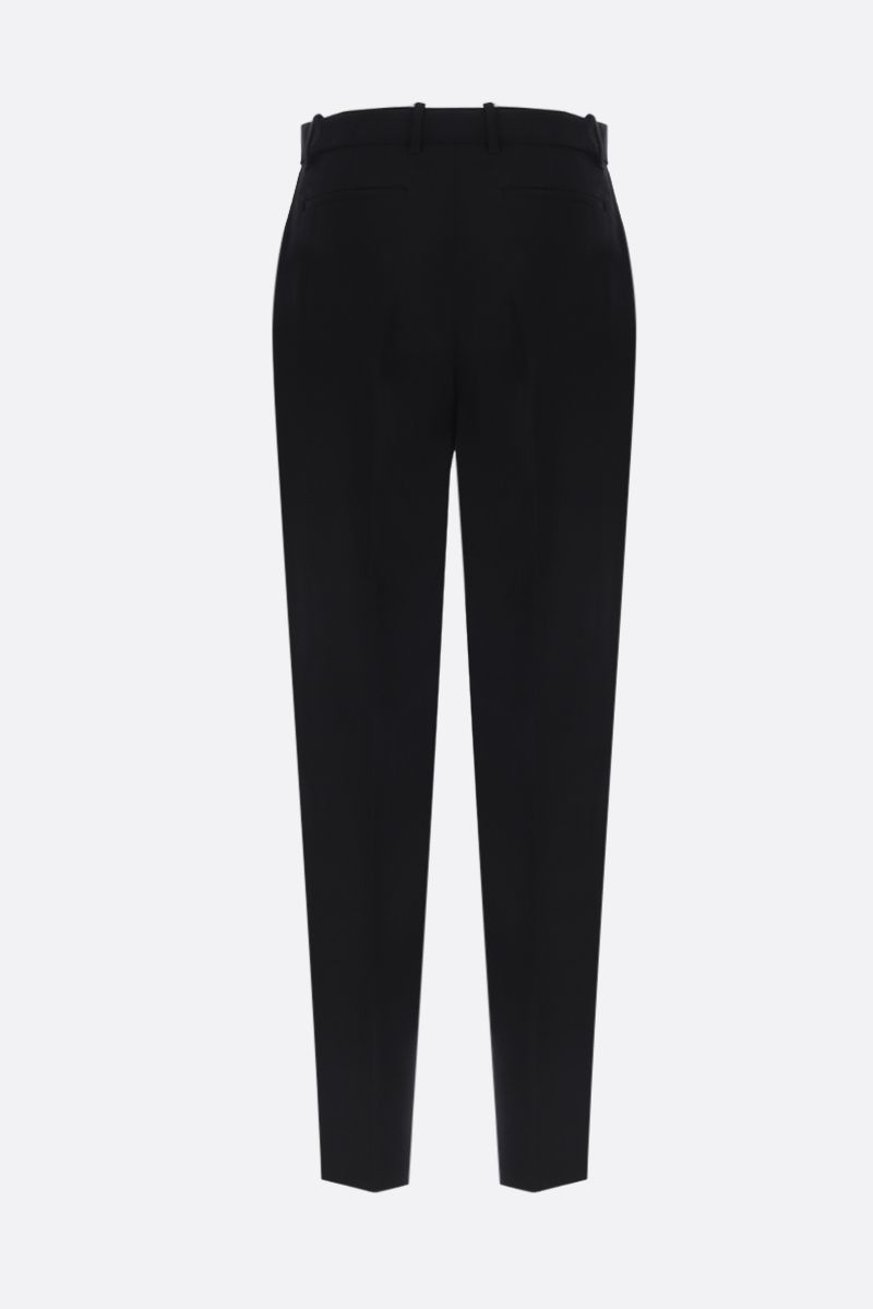 GUCCI: wool blend high-waist pants Color Black_2