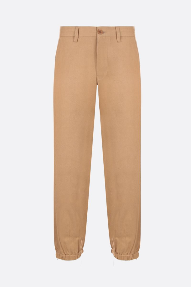 GUCCI: Gucci Band embroidered gabardine joggers Color Neutral_1