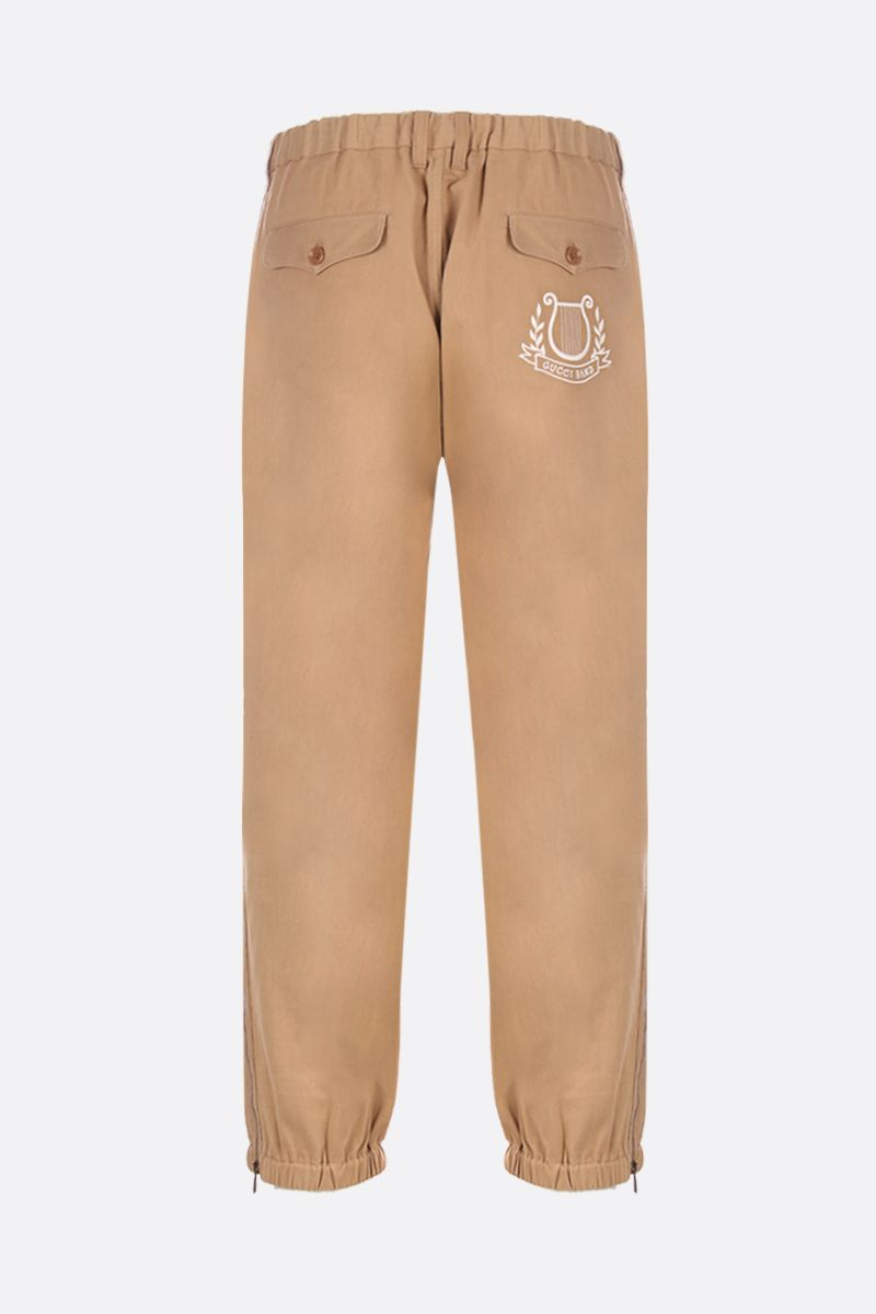 GUCCI: Gucci Band embroidered gabardine joggers Color Neutral_2