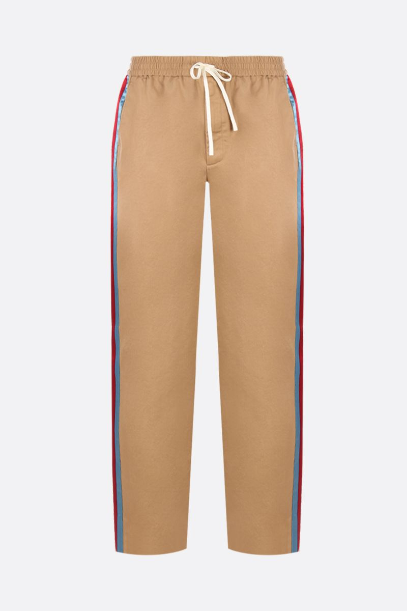 GUCCI: cotton drill joggers with contrasting bands Color Multicolor_1