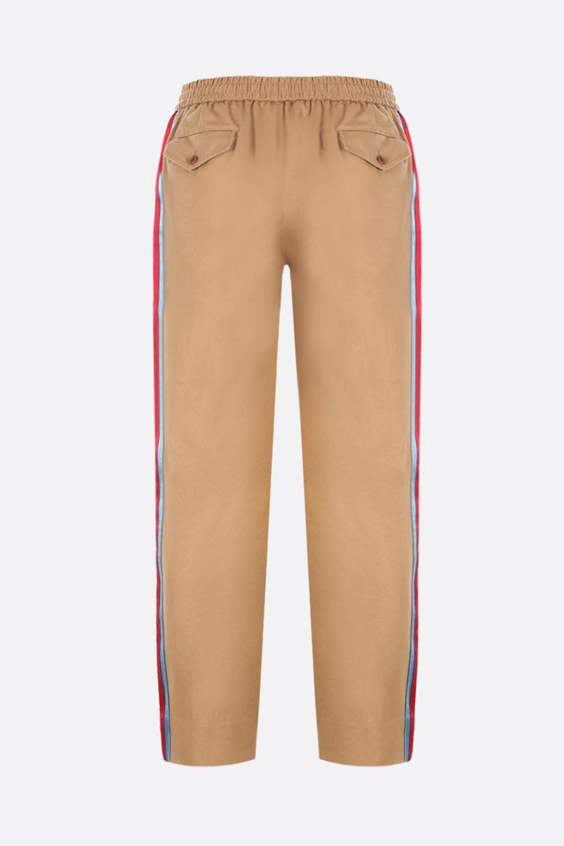 GUCCI: cotton drill joggers with contrasting bands Color Multicolor_3