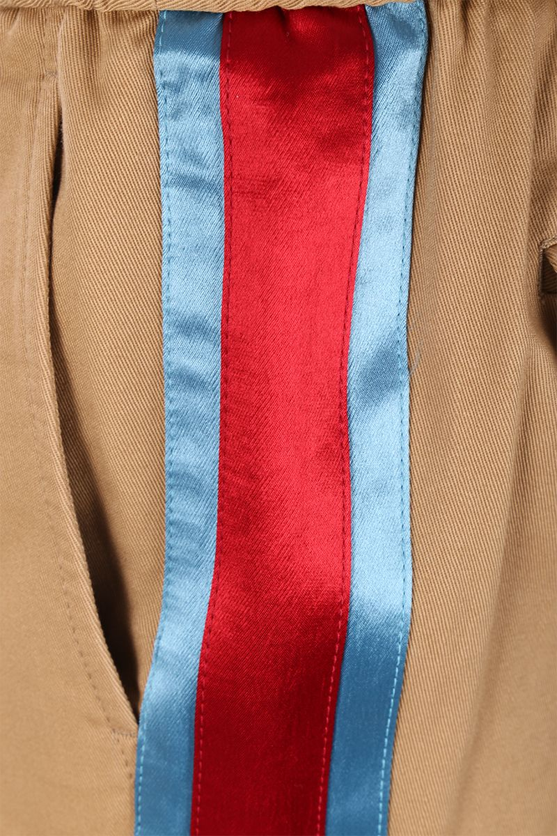 GUCCI: cotton drill joggers with contrasting bands Color Multicolor_4
