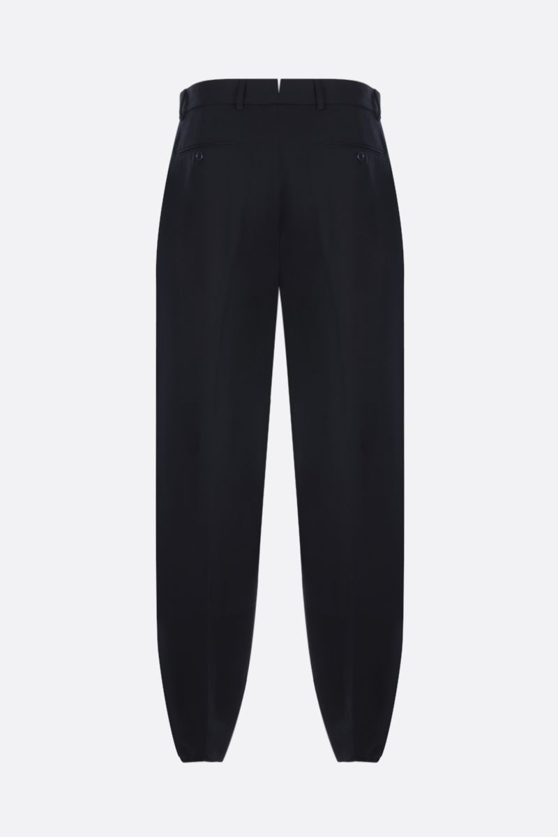 GUCCI: wool gabardine pleated pants Color Blue_2