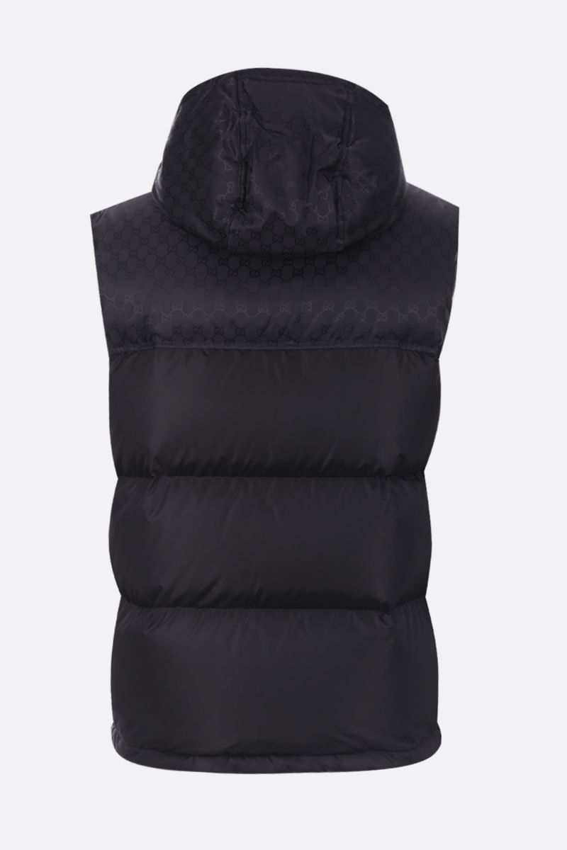 GUCCI: GG nylon sleeveless down jacket Color Black_2