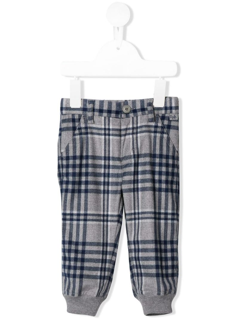IL GUFO: check print technowool pants Color Blue_1