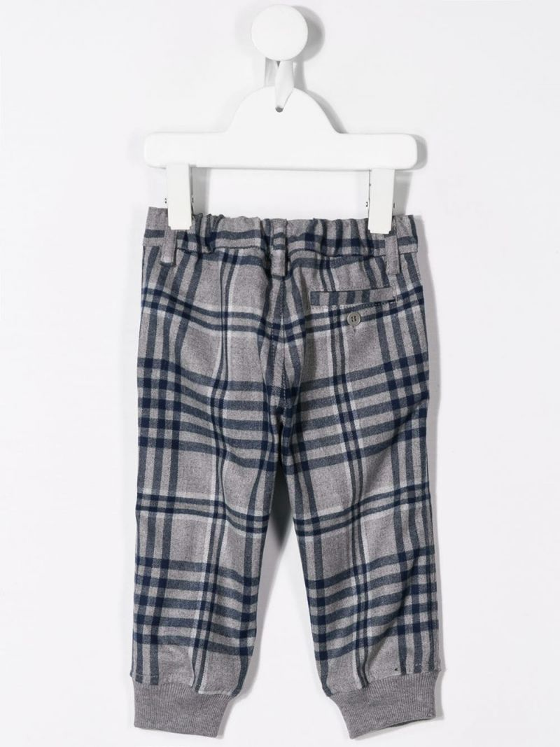 IL GUFO: check print technowool pants Color Blue_2