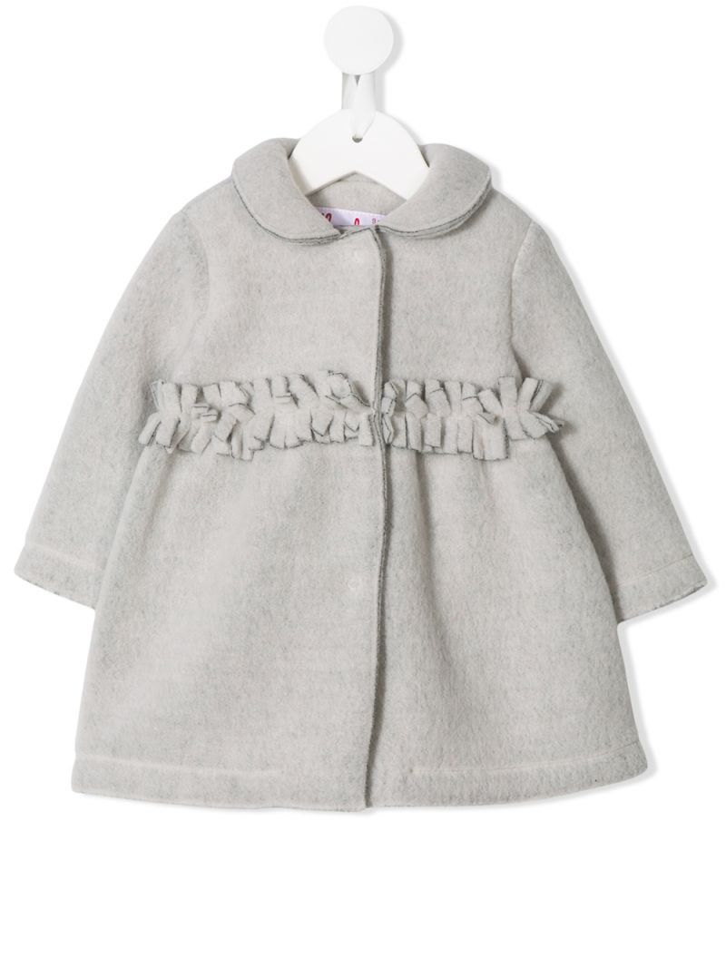 IL GUFO: couture fleece coat with fringed detail Color Black_1