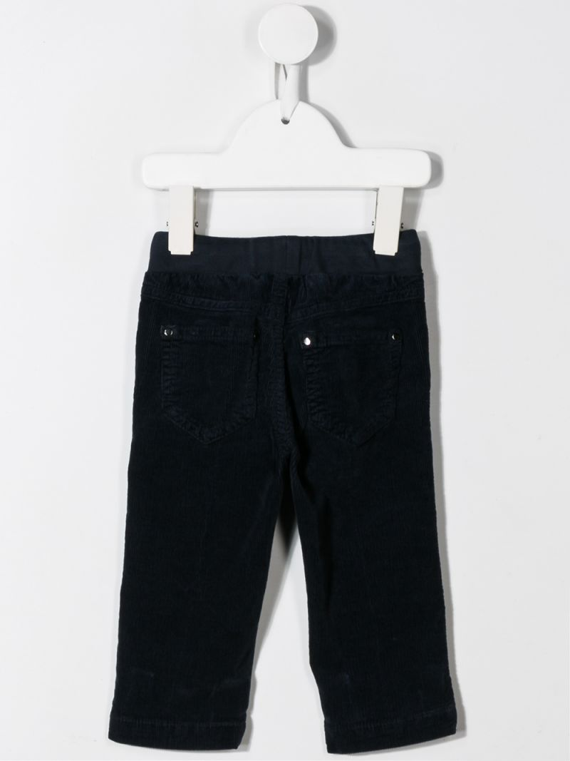 IL GUFO: ribbed velvet straight-fit pants Color Blue_2