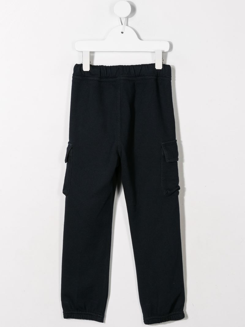 IL GUFO: cotton blend cargo pockets Color Blue_2
