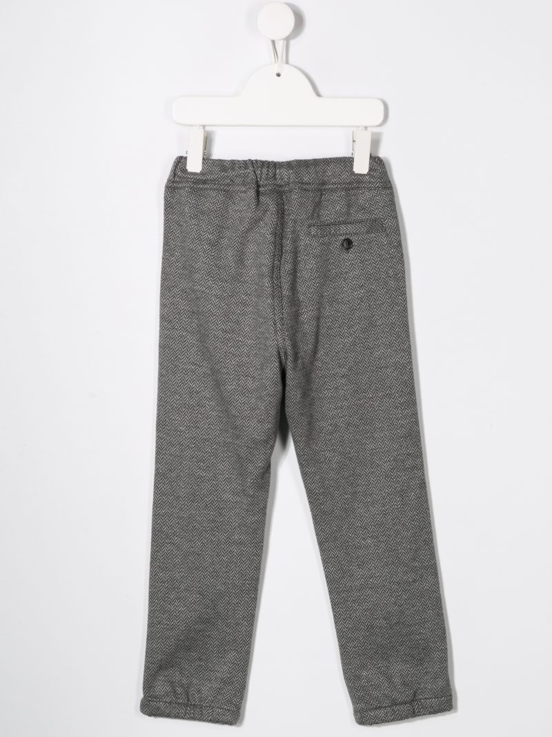 IL GUFO: herringbone cotton joggers Color Black_2