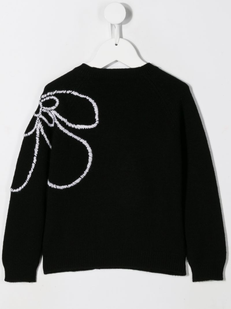 IL GUFO: floral embroidered wool pullover_2
