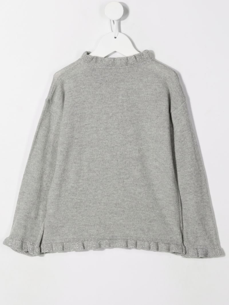 IL GUFO: wool pullover with ruched details Color Grey_2