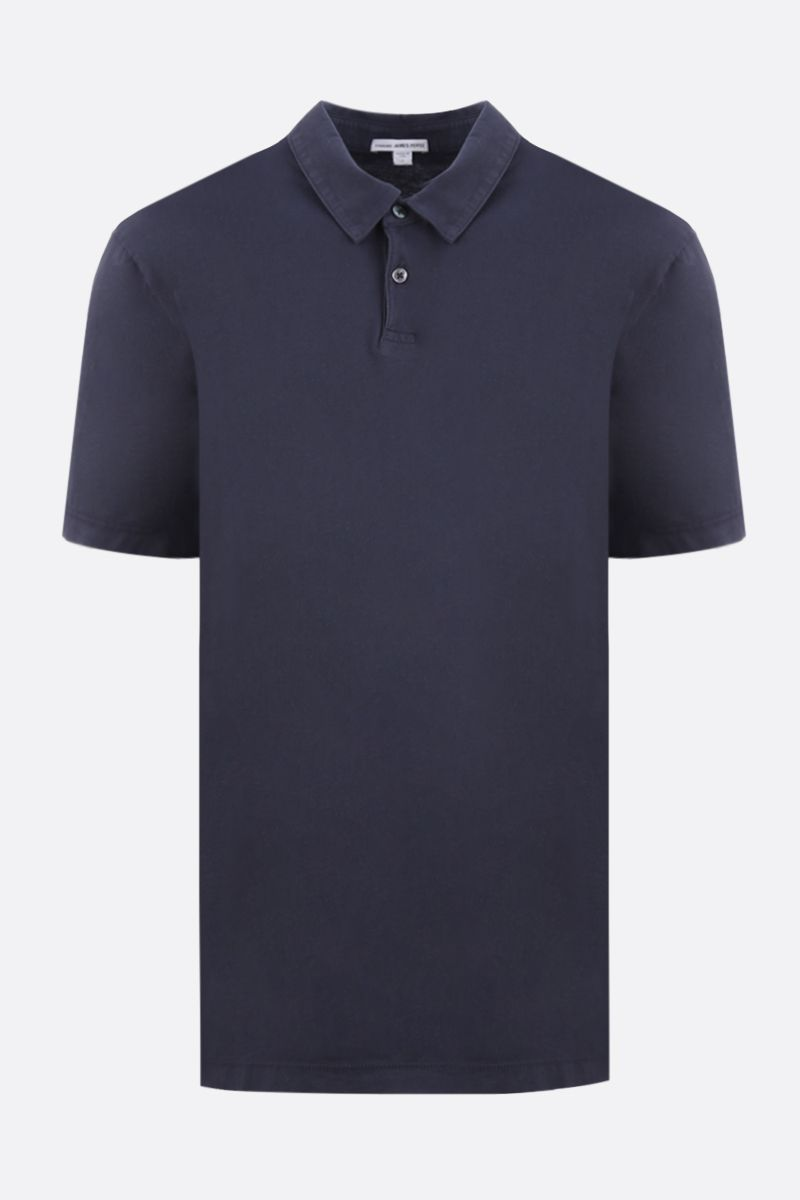 JAMES PERSE: polo regular-fit in jersey di cotone Colore Blu_1