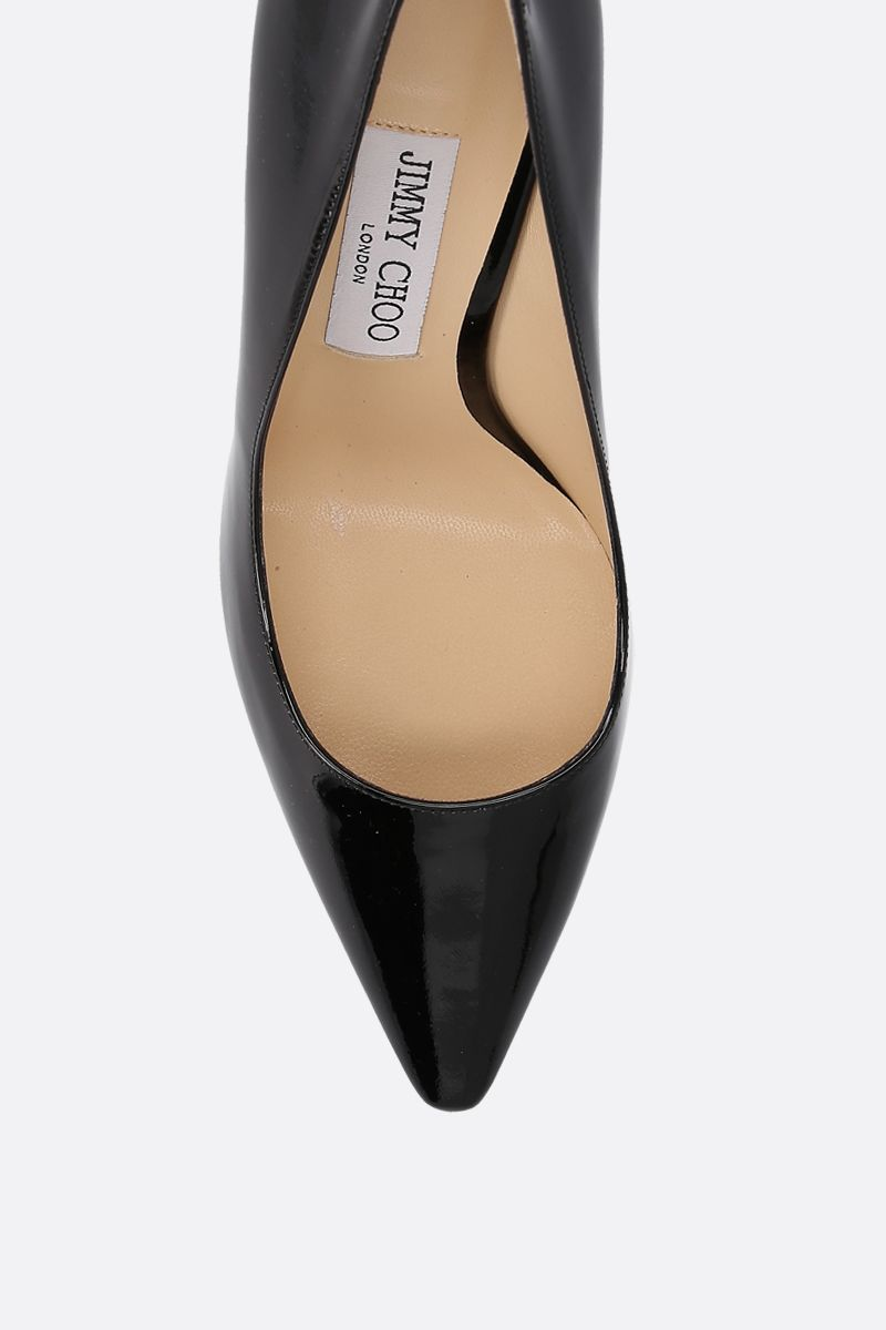 JIMMY CHOO: Romy patent leather pumps Color Black_4