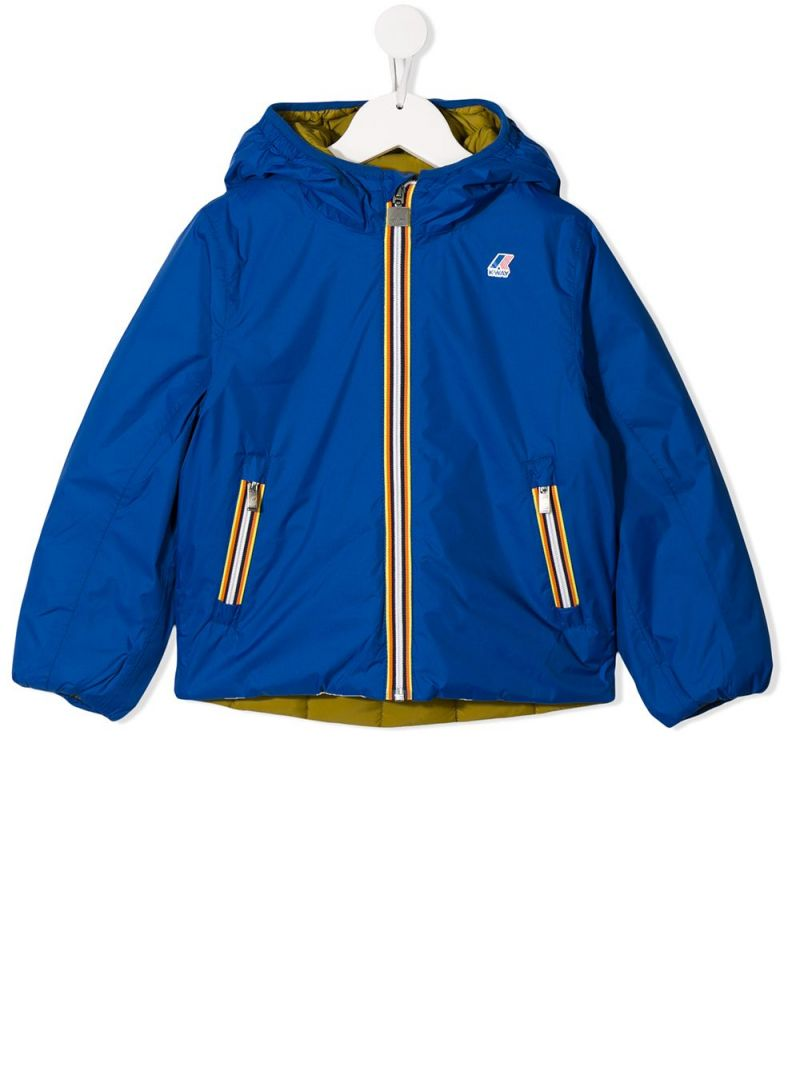 K-WAY KIDS: nylon reversible down jacket_1