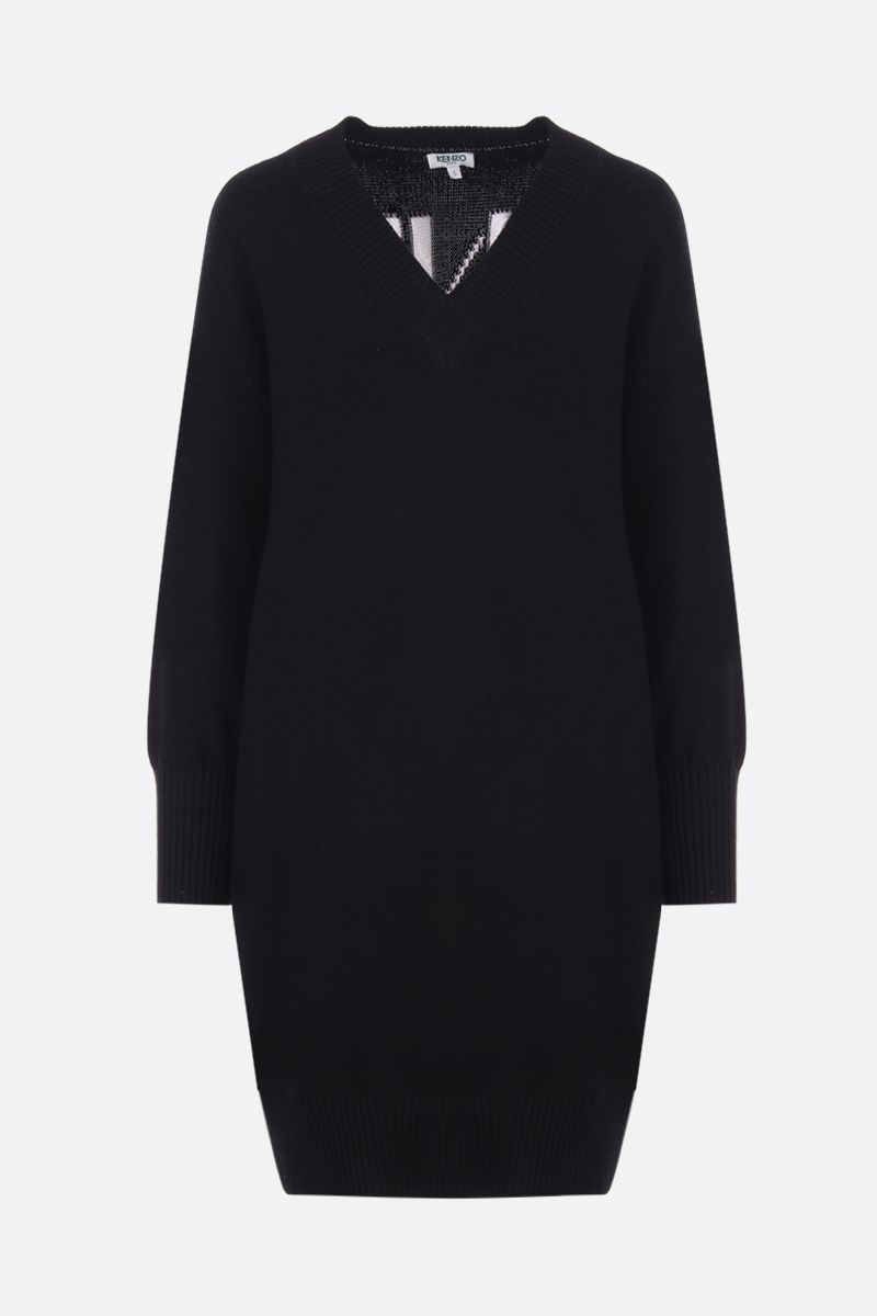KENZO: Kenzo Sport dress in cotton blend knit Color Black_1