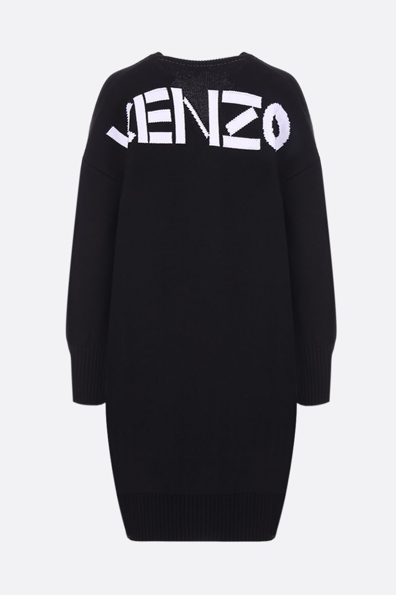 KENZO: Kenzo Sport dress in cotton blend knit Color Black_2