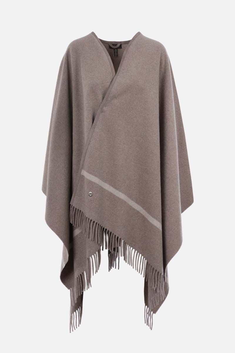LORO PIANA: Twelve fringed cashmere cape Color Neutral_1