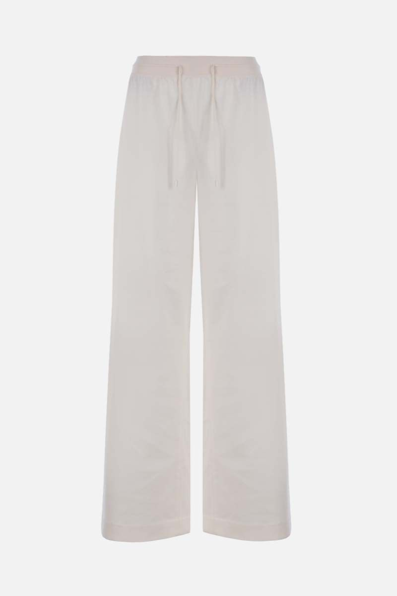 LORO PIANA: Keavan wide-leg cashmere blend joggers Color White_1