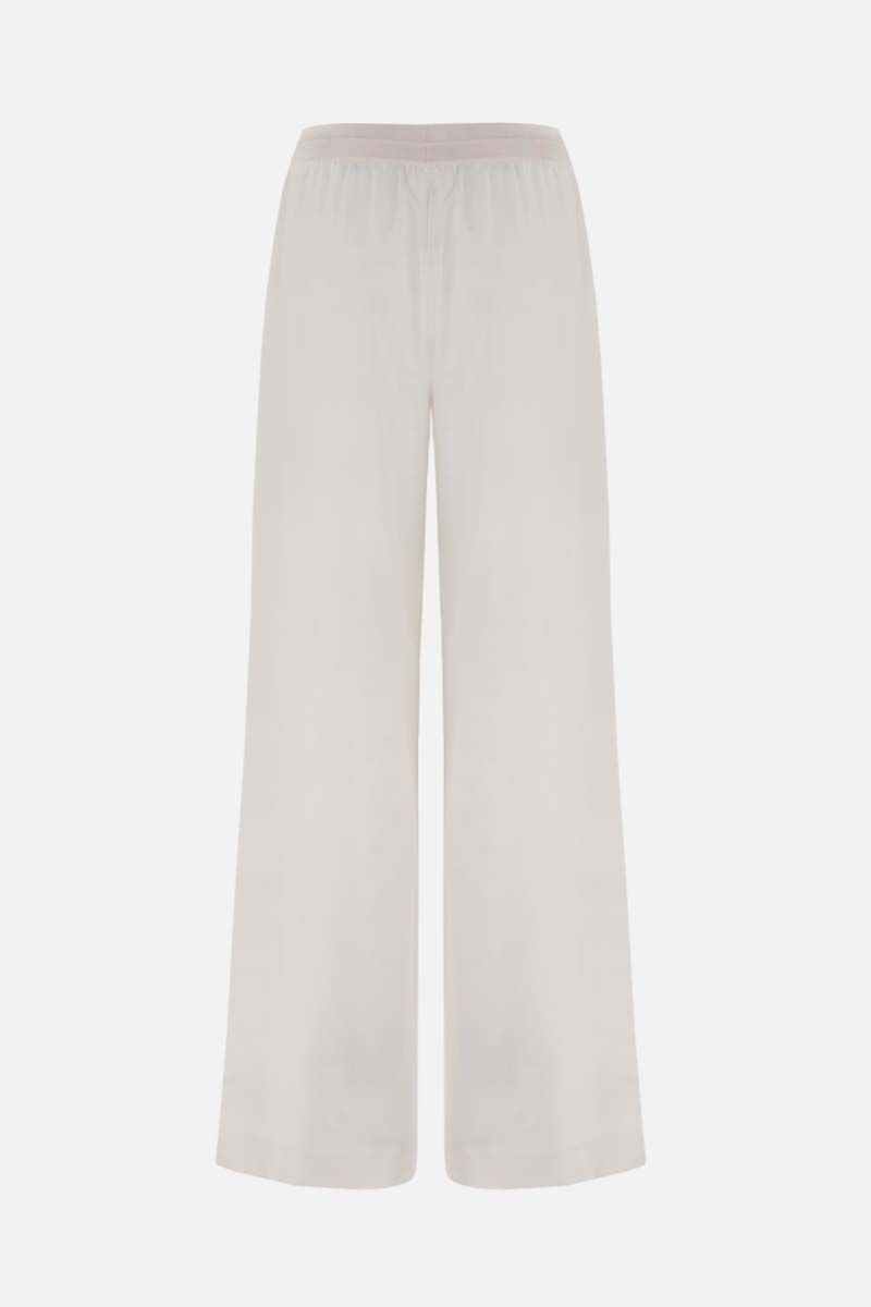 LORO PIANA: Keavan wide-leg cashmere blend joggers Color White_2