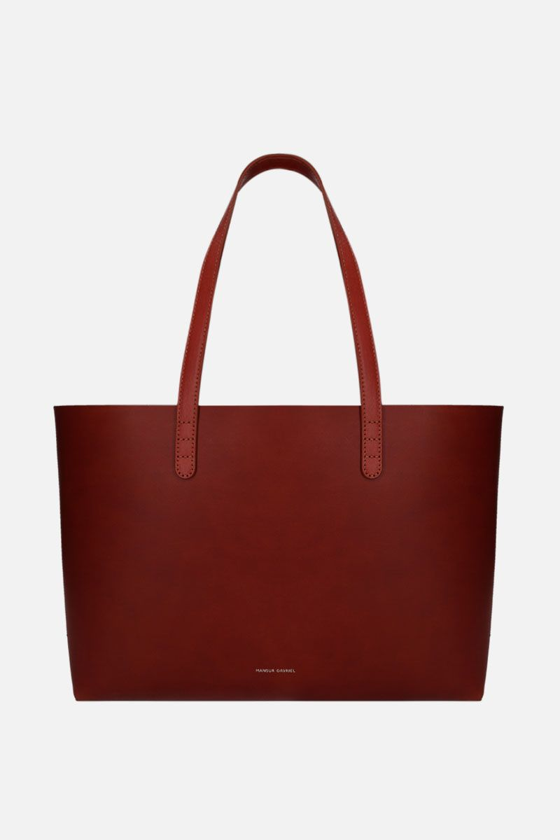 MANSUR GAVRIEL: small tote bag in smooth leather Color Brown_1