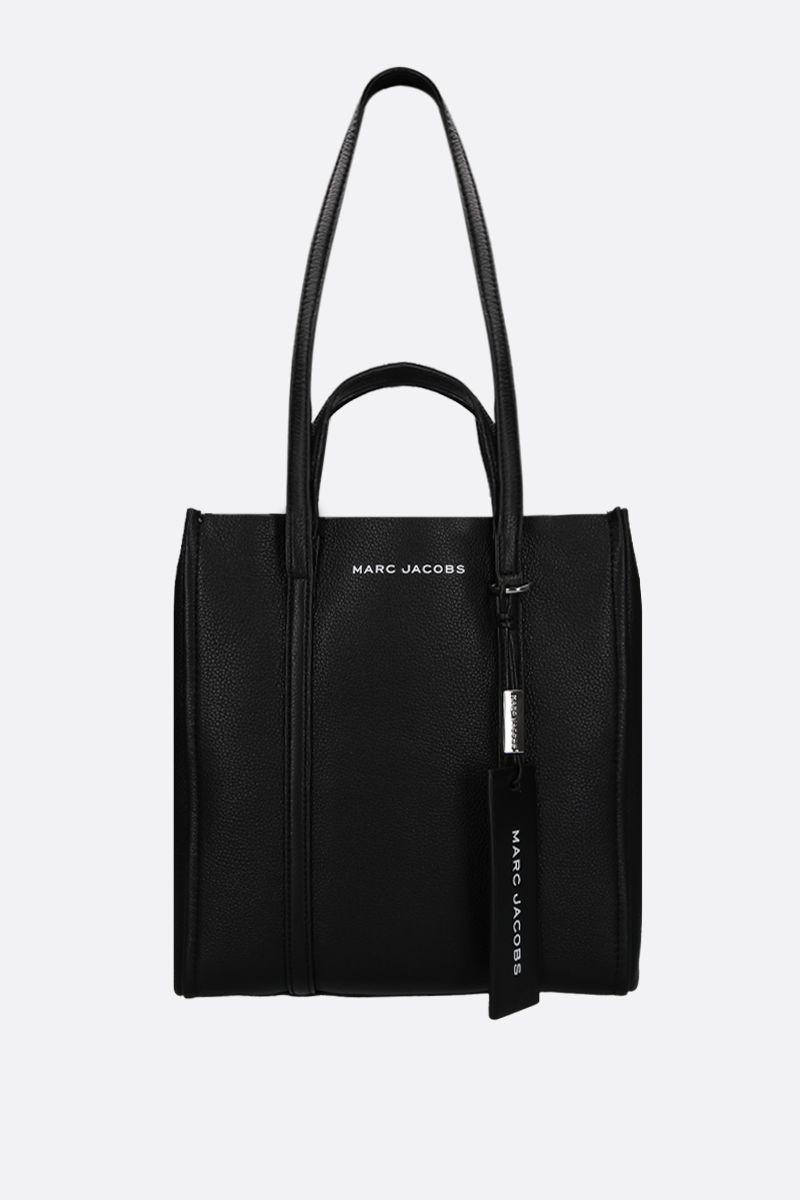 MARC JACOBS: The Tag tote in grainy leather Color Black_1