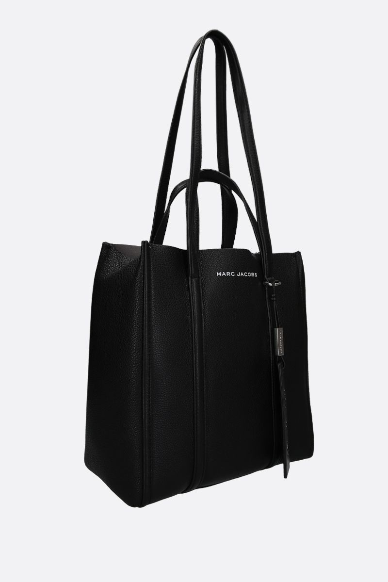 MARC JACOBS: The Tag tote in grainy leather Color Black_2