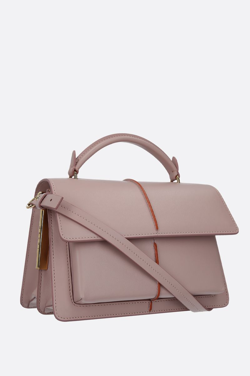 MARNI: Attachè handbag in smooth leather Color Pink_2