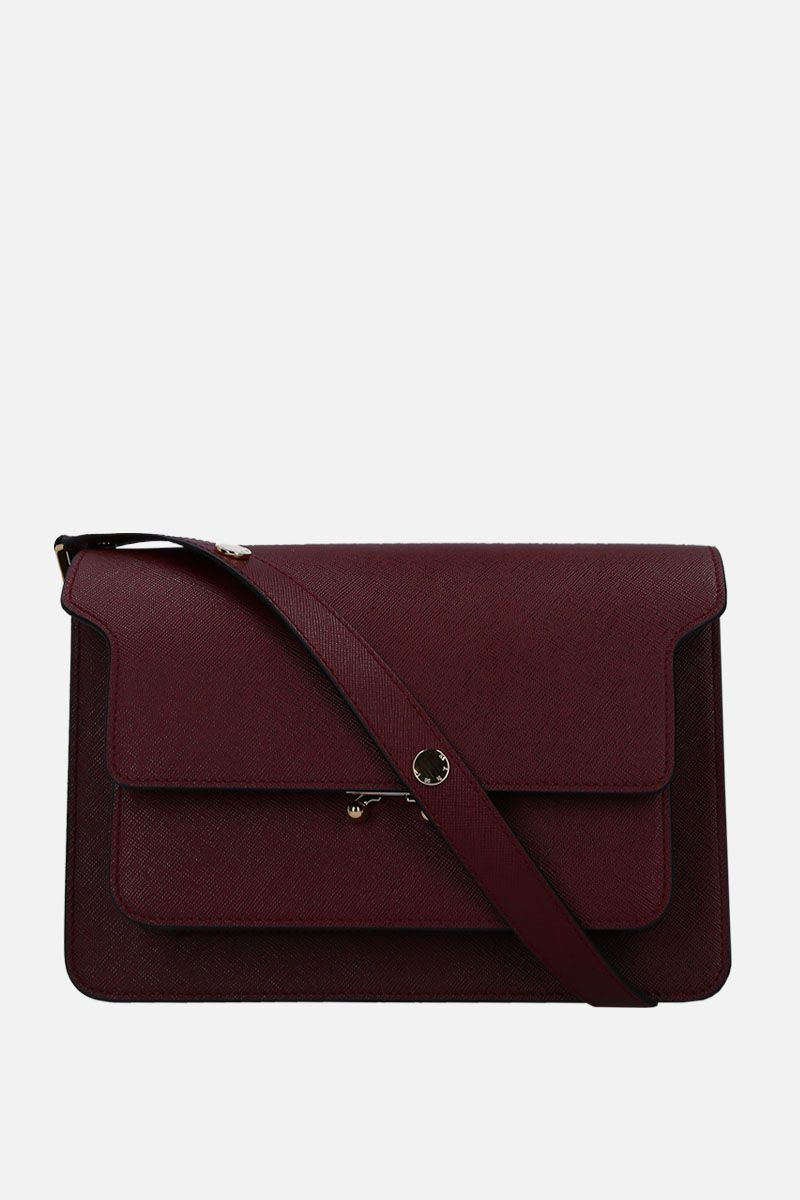 MARNI: Trunk medium shoulder bag in saffiano leather Color Red_1