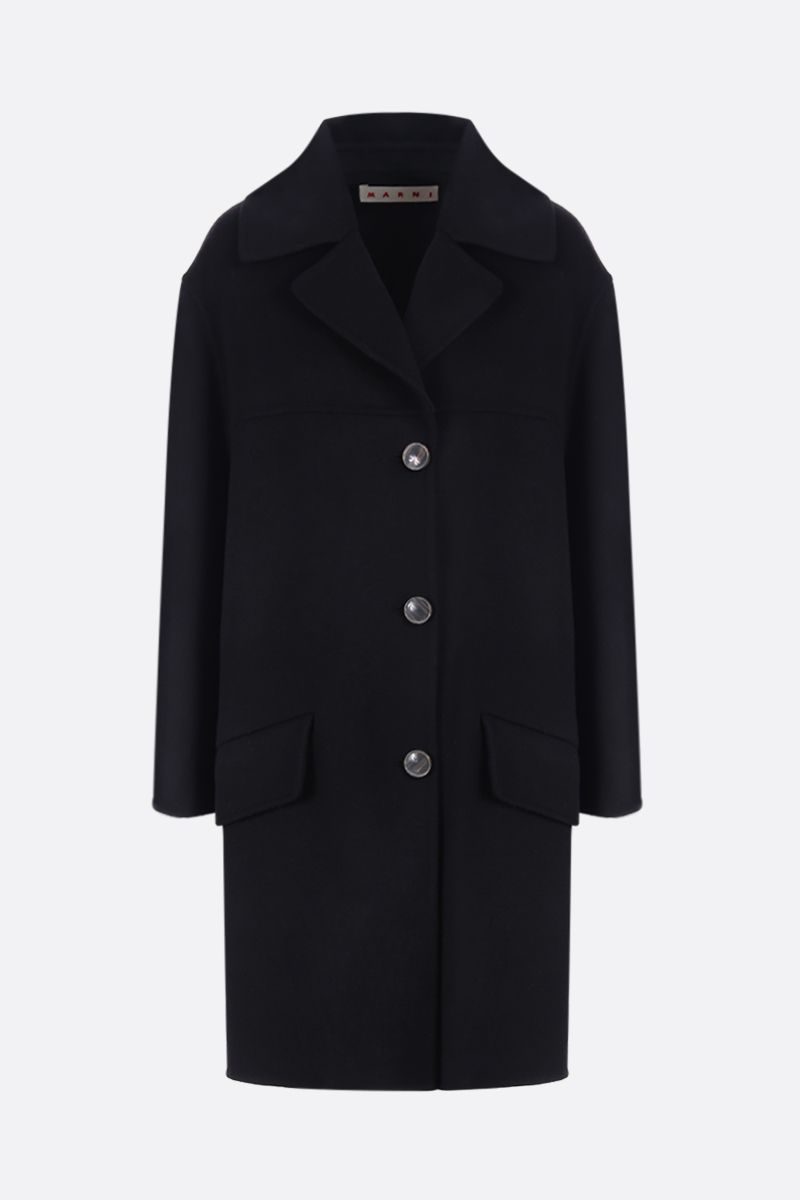 MARNI: wool and cashmere single-breasted coat Color Black_1