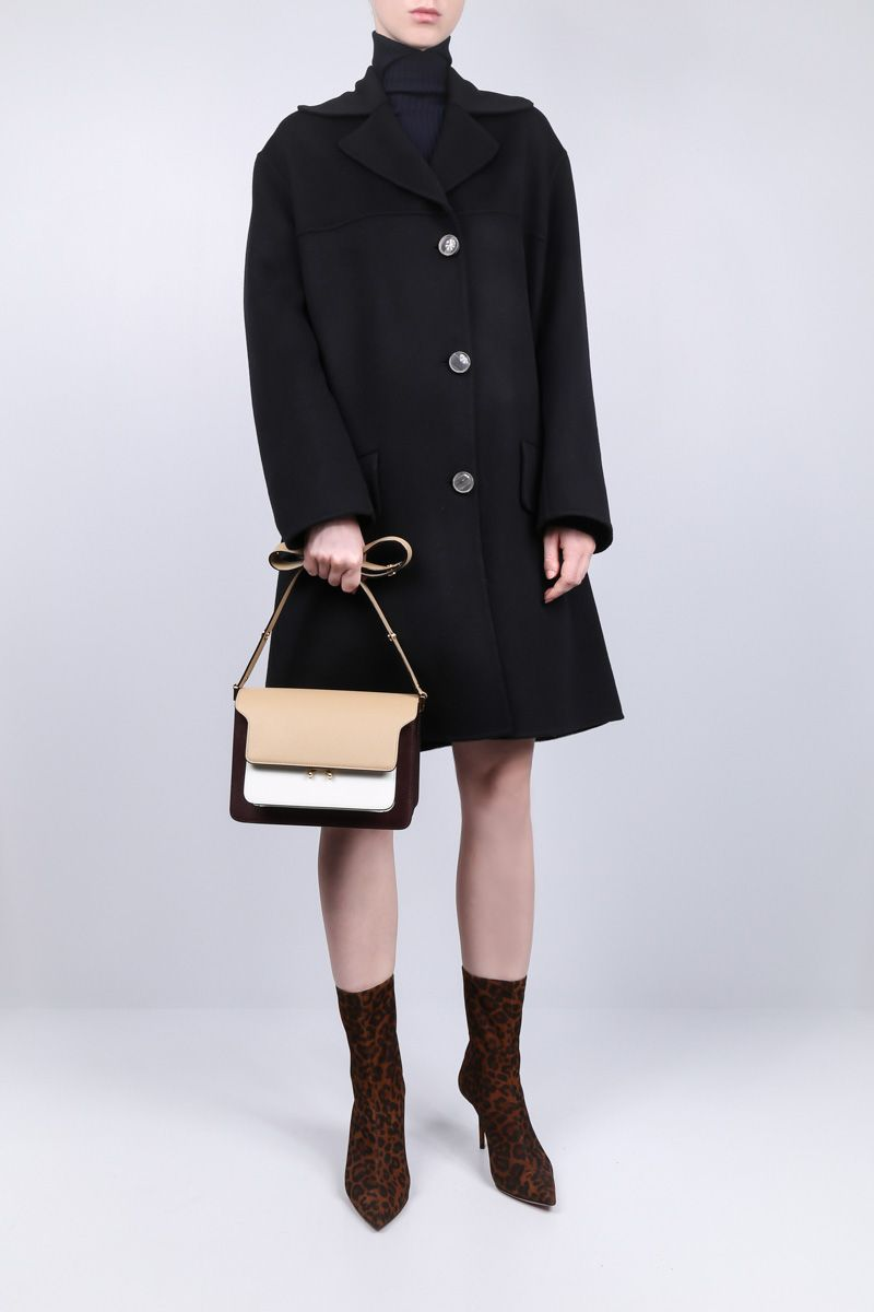 MARNI: wool and cashmere single-breasted coat Color Black_2