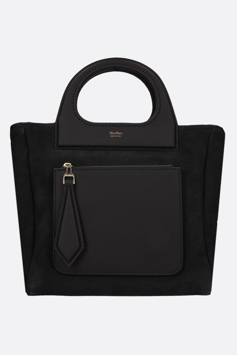 MAX MARA: Grac XS handbag in soft shearling Color Black_1