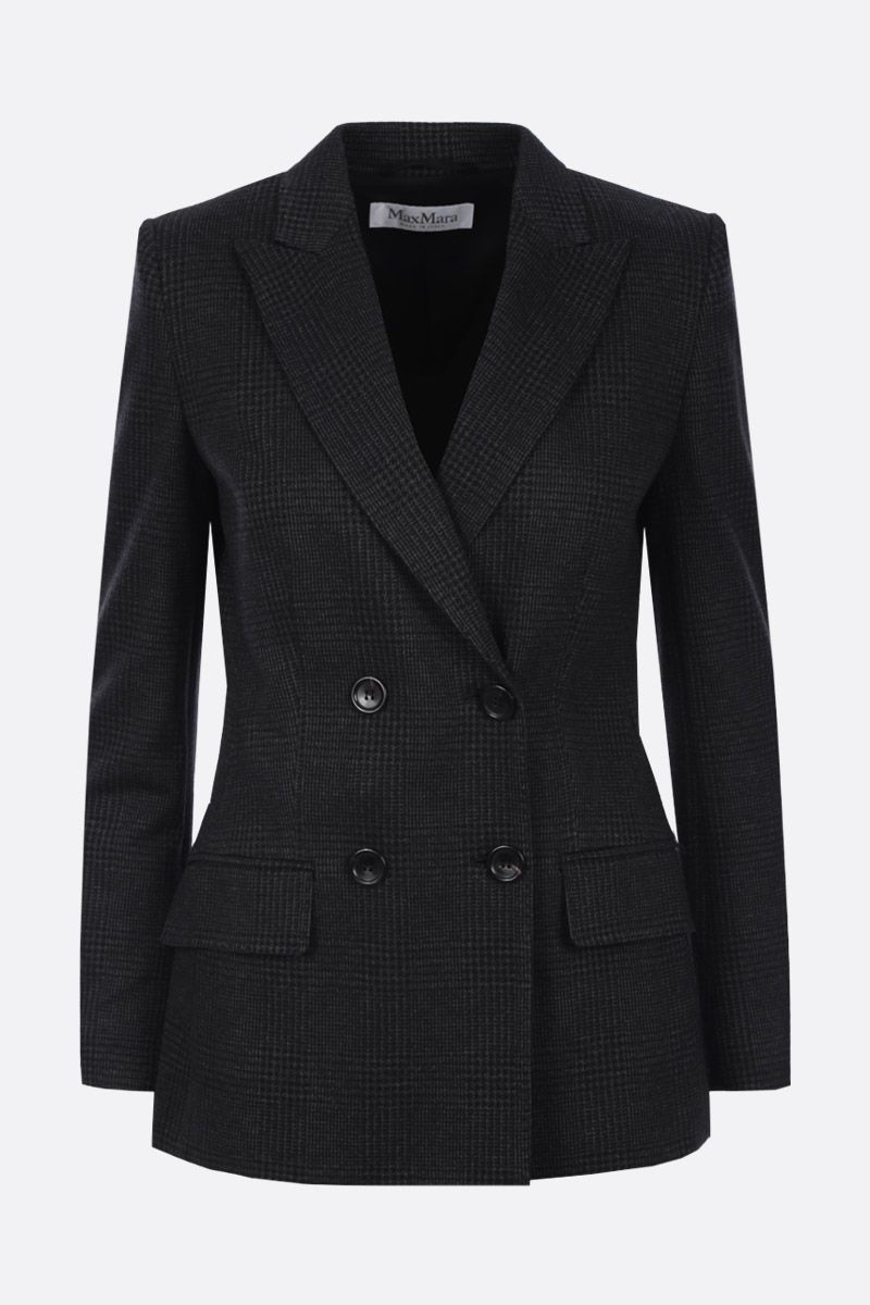 MAX MARA: Madison double-breasted jacket in wool blend Color Black_1