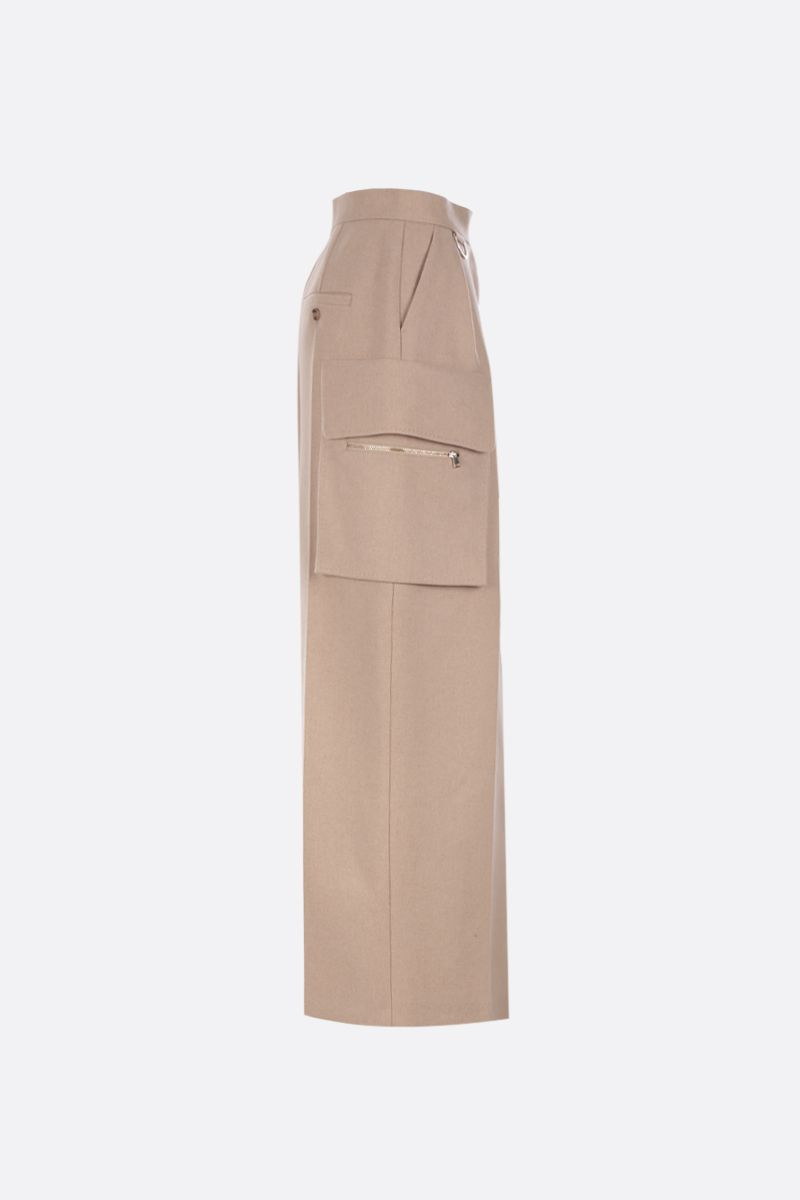 MAX MARA: Udente long skirt in camel cashmere blend Color Neutral_2