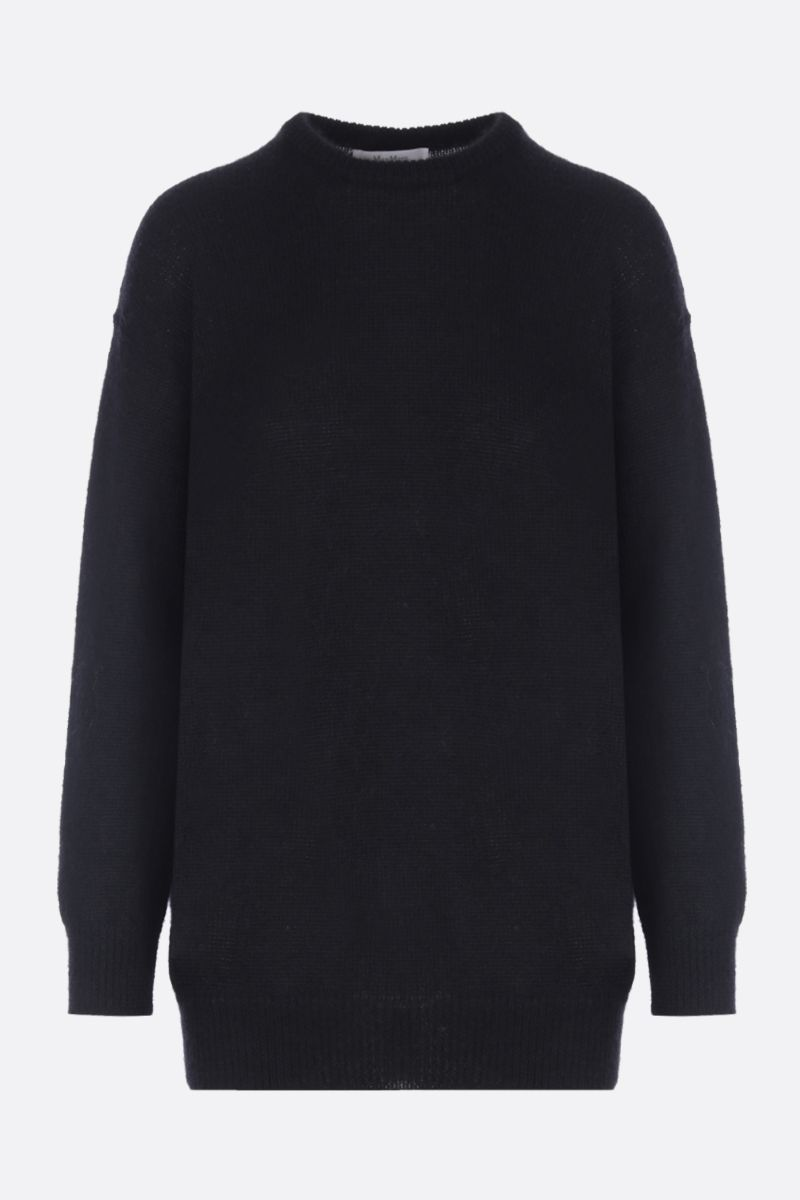 MAX MARA: Relax pullover in mohair blend Color Black_1