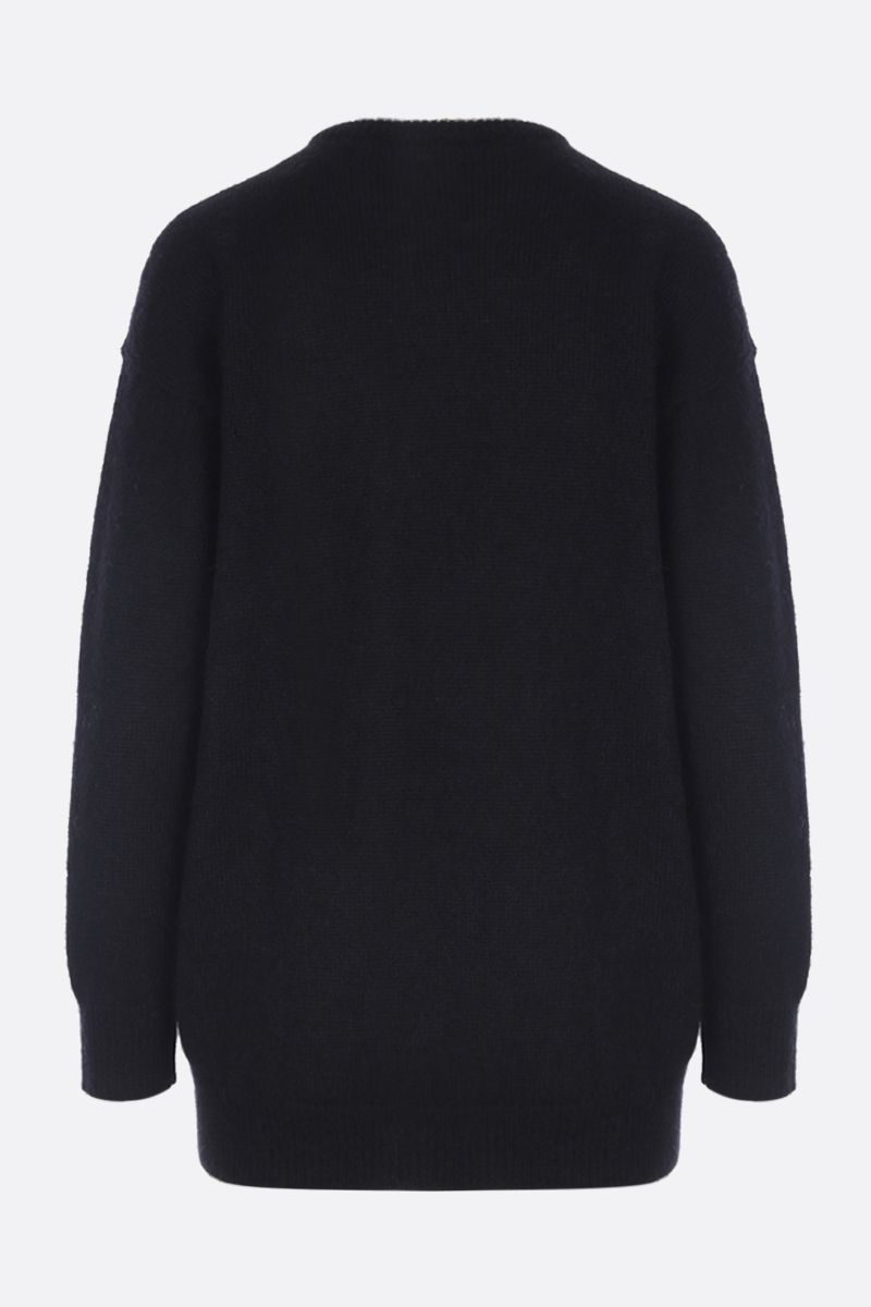 MAX MARA: Relax pullover in mohair blend Color Black_2
