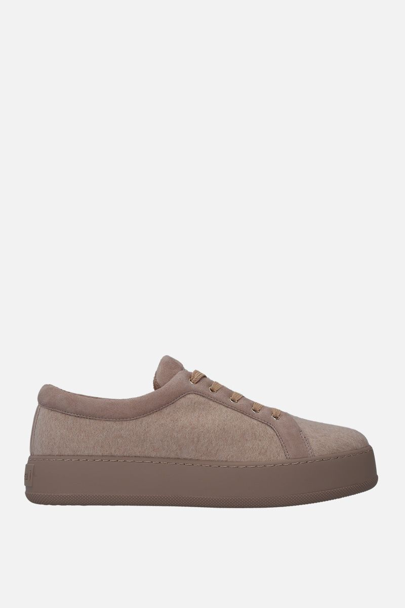 MAX MARA: Thesmar sneakers in cashmere and suede_1