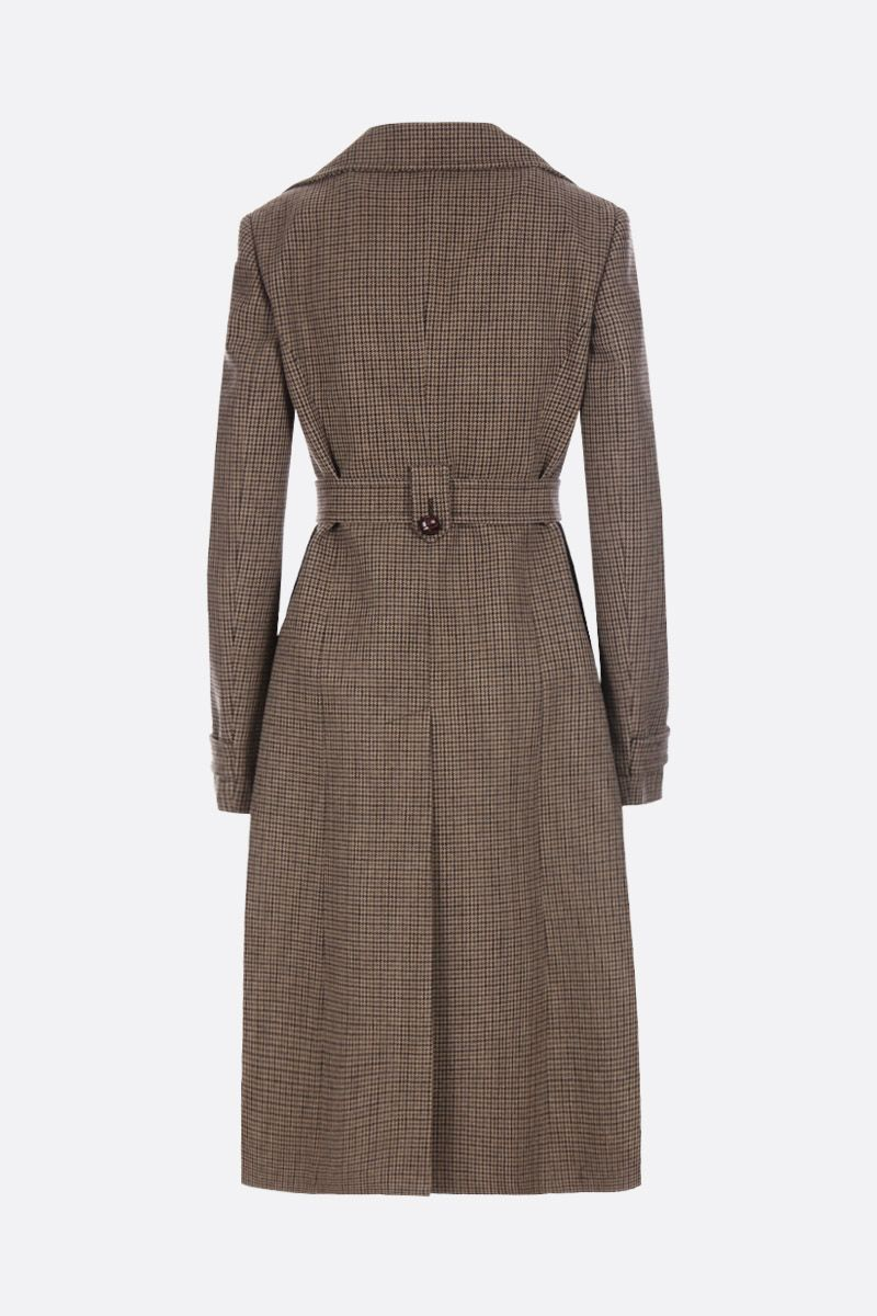 MIU MIU: houndstooth wool blend double-breasted coat_2